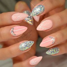 Best Stiletto Nails Designs, Ideas, Tips, For You Glamorous Stiletto Nail Designs Youll Adore ★ See more: naildesignsjourna… Acrylic Nails Natural, Cute Acrylic Nails, Acrylic Nail Designs, Nail Art Designs, Gorgeous Nails, Pretty Nails, Cute Nails, Fancy Nails, Pink Nails