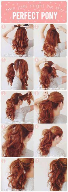 Perfect Ponytail Hairstyle Tutorial For Cute Girls - Toronto, Calgary, Edmonton, Montreal, Vancouver, Ottawa, Winnipeg, ON