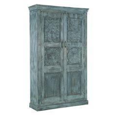 EEN 38: Kast, 2 deurs, blauw Eenmalig