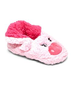 Look at this Blue Star Clothing Co. Pink Pig Sock Slipper on #zulily today!