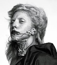 Lady Gaga by Inez & Vinoodh for L'Uomo Vogue January 2012.