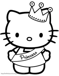hello kitty coloring pages | HELLO KITTY COLOURING