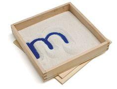 Montessori Letter & Drawing Sand Tray Callie's Corner