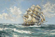 MONTAGUE DAWSON (British, 1890-1973) The Sir Lancelot - 1865 24 x 36 in.