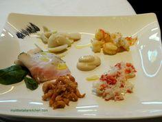 Italian fish antipasto (starter)
