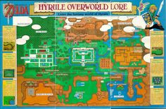 Zelda: A link to the past - Map