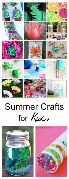 Summer Craft Ideas for Kids - from Floam to paper crafts to painting and more!