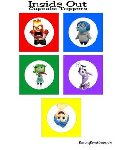 Bring the little voices in your head Inside Out with these fun cupcake topper party printables. Simply print out Joy and the gang for some easy and free printables to take your party over the top. Party Printables, Free Printables, Kit Digital, Disney Inside Out, Teaching Methods, School Decorations, Fun Cupcakes, Therapy Activities, Nightmare Before Christmas