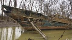 Abandoned Warship Found on River