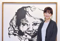 Koo Hye Sun at her 2nd solo exhibition