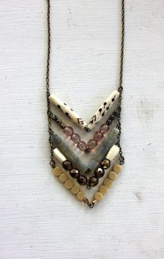 necklace. like the idea of chevrons with different types of beads