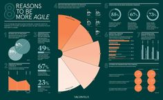 8 reasons to be more agile - Raconteur Information Poster, Information Design, Information Graphics, Web Design, Chart Design, Architecture Presentation Board, Presentation Design, Pie Chart Template, Brand Manual