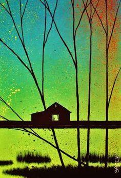 "Saatchi Art Artist Kyle Brock; Painting, ""Against the Night Sky"" #art"