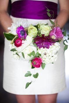 plummy + pink bouquet | Hunter McRae #wedding