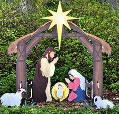 Nativity scene christmas decorations scene christmas dcor and christmas outdoor yard decorations nativity sets aloadofball Choice Image