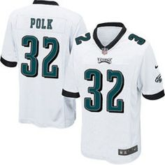 "$78.00--Chris Polk White Elite Jersey - Nike Stitched Philadelphia Eagles #32 Jersey,Free Shipping! Buy it now:click on the picture, than click on ""visit aliexpress.com"" In the new page."