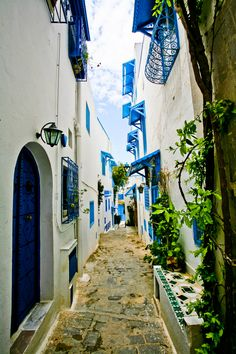 blue and white town by Marina Chirkova on 500px