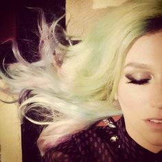 Ke$ha's Rocking Some Multicolored Hair: She posted a pic of her candyland-y locks on Insta. #SelfMagazine