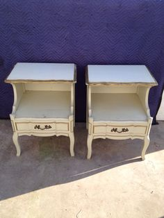 Vintage French Provincial Nightstands / End by ProvincialButFrench, $399.00
