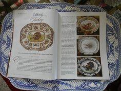 Love Blue, Red And Blue, Thanksgiving Dinnerware, Thanksgiving Table, Turkey Farm, Turkey History, Turkey Plates, Funky Junk Interiors, Turkey Time