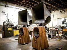 #hornspeakers #electronluv Just finished theses sweet horns #stereo
