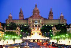 Palau Nacional i Font Màgica, a Montjuïc. Barcelona (Catalunya - Catalonia)