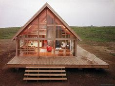 Excellent Gardening Ideas On Your Utilized Espresso Grounds Newly Constructed Prefabricated House On Block Island With Large Wrap Around Deck Photographic Print By John Zimmerman At Tiny House Cabin, Log Cabin Homes, Tiny House Design, Barn Homes, Tiny House Kits, Diy Cabin, Small Log Cabin Kits, Barn House Kits, Off Grid Tiny House