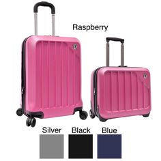 2e0807ad1 Constructed of virtually indestructible ABS hardshell, this spinner luggage  set features a spacious interior with
