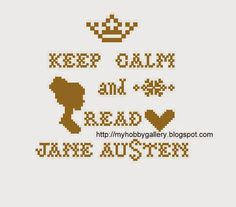 My Hobby Gallery: Jane Austen free cross stitch chart