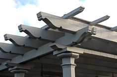 Timber frame pergola rafter tails Lentils/ Classic profiles