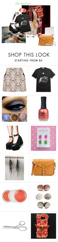 """""""the punk"""" by thewhoreofcookies ❤ liked on Polyvore featuring Berta, Topshop, Givenchy, Charlotte Russe, Clinique, Rosita Bonita, Samsung, Punk, alternative and BeautyandtheBeast"""