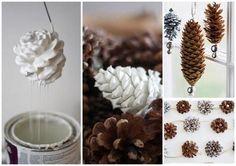 Décorations de Noël en pomme de pin