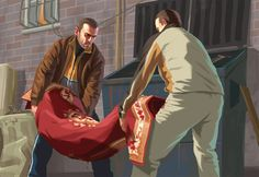 View an image titled 'Body Disposal Art' in our Grand Theft Auto IV art gallery featuring official character designs, concept art, and promo pictures. Gta V Ps4, Gta 5, Grand Theft Auto Series, Fallout New Vegas, Fallout 3, Game Concept Art, Video Game Art, Museum Of Modern Art, Character Illustration