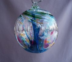 Hanging this hand blown decorative ball in the window or room is said to protect your home against evil spirits and witches spells for centuries.