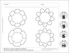 Fichas para preescolar: Primavera y Pensamiento Matemático