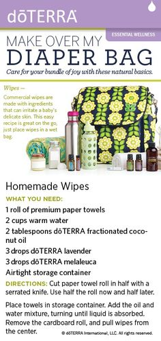 Try this recipe for natural baby wipes made with dōTERRA essential oils. To purchase these oils, please visit my online store: http://www.doterra.myvoffice.com/niletaralata/ To view the full spread from the magazine here: viewer.zmags.com/...