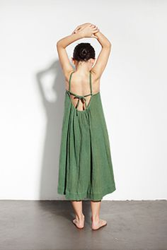 what a beautiful back detail to this simply gorgeous green dress. polder ss14 #girls #fashion