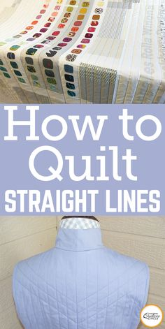 """Carefully cutting out the pattern pieces and fleece for the vest, I was thinking, """"OK, how am I going to do this? How am I going to get these quilting lines perfectly straight?"""" Grandma Katie used an eight-foot-long two by four as a straight edge to mark the stitching lines on her giant quilts. That two by four was a prized possession of my Grandma; however, the two by four method was not going to work on the vest."""