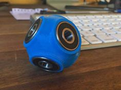 Fidget cube ball spinner 3d printed looks the part on any desk.