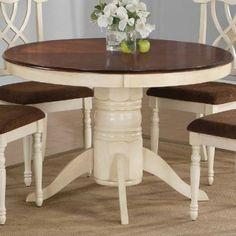 kitchen table...cream and espresso