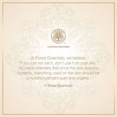 The #WordsOfWisdom, prevalent in #ancient #scriptures have been adapted and reinforced in our #philosophy and #products. We share them and bring them to you as they were, when the science of #Ayurveda began.