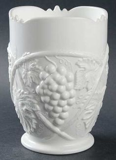 Grape-Milk Glass This is not Duncan Miller as per Brad Gougan. This is US Glass/Tiffin made from original US Glass Palm Beach pattern molds. When US Glass acquired the D-M molds, they introduced their Duncan line of milk glass and this pattern was included with that even though Duncan Miller never made it.