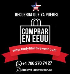 Ya puedes comprar en EEUU Now you can buy in the U.S. #ExerciseYourStyle #Fitness #Modern #WorkOut #PhotoOfTheDay #LifeStyle #Woman #Shop #Trendy #AthleticWear #YoSoyBodyFit #Shop #MusHave #BeOriginal #BodyFit #RopaDeportiva #StyleRunner #FashionTrends #GetMotivated #SportLuxe #AthleticWear #BodyFitStyle