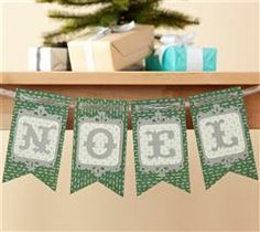 Bring holiday cheer to your home using this classy banner!