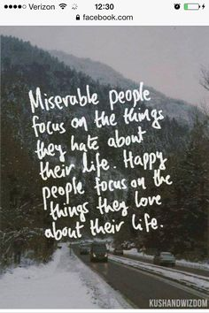 Happy people focus