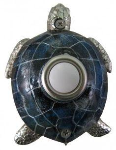 Blue Nickel Plated Turtle Doorbell