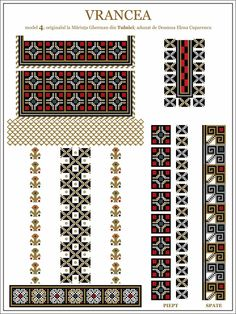 Semne Cusute: iie de Vrancea, MOLDOVA Russian Embroidery, Embroidery Motifs, Cross Stitch Embroidery, Cross Stitch Patterns, Beading Patterns, Knitting Patterns, Crochet Hook Set, Needlework, Ornament
