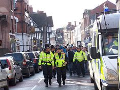 Hereford police has said that 'all went off quite peacefully' today when some 1500 Shrewsbury Town fans came to the city for the local derby at Edgar Street.