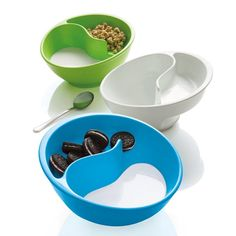 Obol - never-soggy cereal bowl by Brookstone