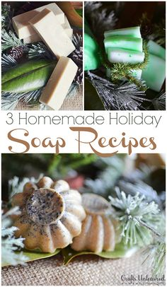 Homemade Soap Recipes: 3 Holiday Pine Combos (Check out the Jello mold ones! Those are my favorite!)